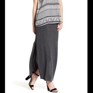 BAILEY 44 astaire knit maxi slit skirt M L (B3)
